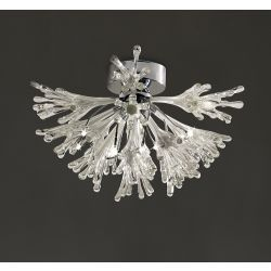 Diyas IL50433 Love Polished Chrome/White Glass 9 Light Small Ceiling Light