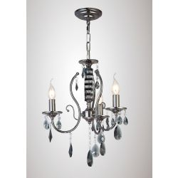 Diyas IL30903 Luna Black Chrome/Crystal 3 Light Ceiling Light