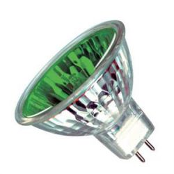 Casell 12V 20W GU4 35mm MR11 10° Green Dichoric Reflector Lamp