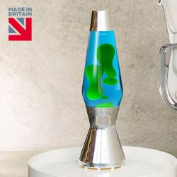 Mathmos Astro Lava Lamp-Blue with Green Lava