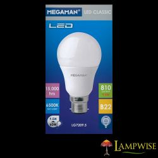 Megaman LED 9.5W Bayonet Cap BC/B22 Daylight Lamp