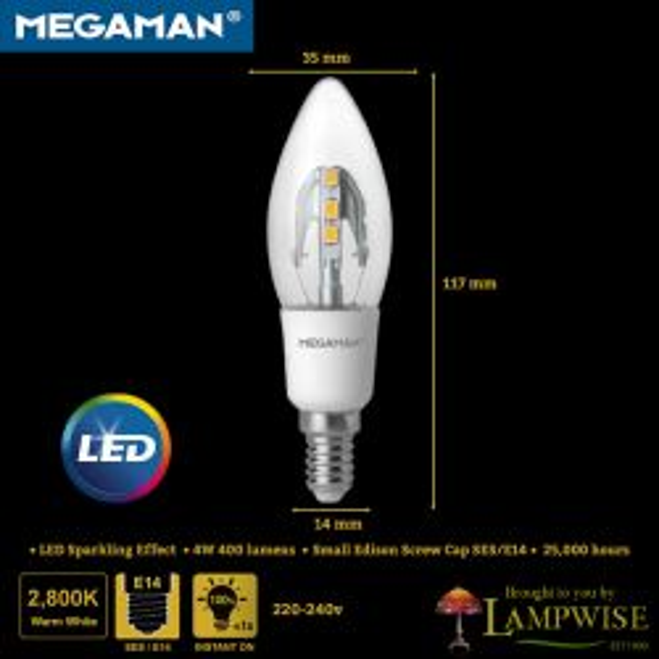 Megaman Incanda-LED 4W SES/E14 Candle