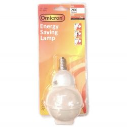 5w 240v SES E14 Energy Saving Cfl Small Round Globe Lamp