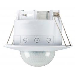 White Recess Mounted PIR Motion Sensor IP20 360 degree Wide Range