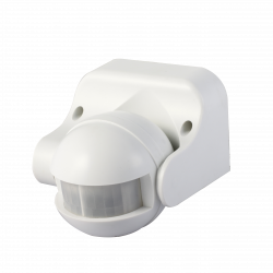 Wall or Ceiling PIR Sensor IP44 rated 180 degree White