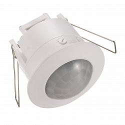White Recess Mounted PIR Motion Sensor IP20 360 degree 62mm cutout