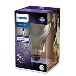 Philips LED A160 Giant Smoked Glass Lamp, Cool White 4000K, Dimmable, 270lm