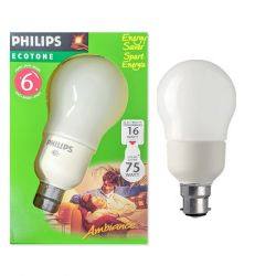 Philips 16W = 75W CFL BC B22 Ambiance GLS Light Bulb, Warm White
