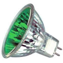 Prolite MR16 True Colour Dichroic Green 12V 50W Halogen Spot Lamp, 60 degree beam