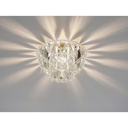 Diyas IL31840CH Ria Polished Chrome/Crystal 1 Light G9 Dome Downlight