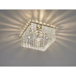Diyas IL31842CH Ria Polished Chrome/Crystal 1 Light G9 Cube Pattern Square Downlight