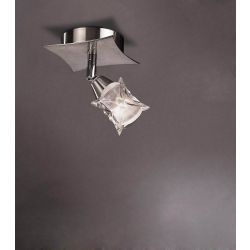 Mantra M0041/S Rosa Del Desierto Spot 1 Switched Light G9 With Adjustable Head, Satin Nickel