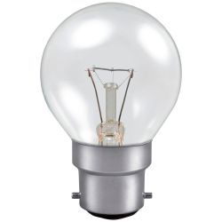 25W BC/B22 230V Dimmable Clear 45mm Golf Ball Light Bulb
