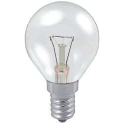 Philips 60W 230V SES E14 P45 Clear Dimmable Golf Ball Round Light Bulb