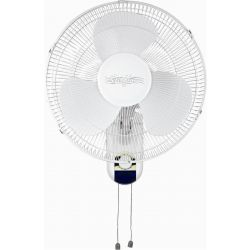 "Stirflow White 16"" Wall Mounted Mains Manual Fan 3 Speeds"