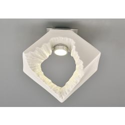 Diyas IL80063 Salvio Chrome/White 1 Light 1 x 3W LED Square Sculpture Ceiling Light