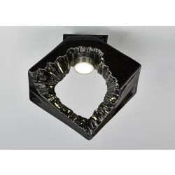 Diyas IL80064 Salvio Chrome/Black 1 Light 1 x 3W LED Square Sculpture Ceiling Light