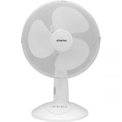 "12"" inch White Desk Fan, 3 Speed, Oscillation and Tilt"