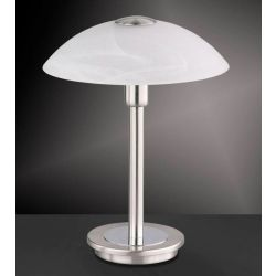 Paul Neuhaus 4235-55 Stainless Steel / Alabastor Decor Halogen Touch Table Lamp