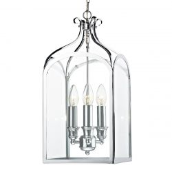 Dar Lighting SEN0350 Senator 3 Light Pendant Polished Chrome