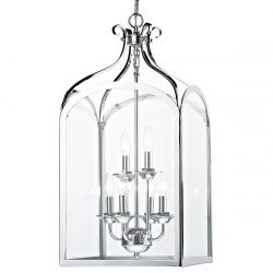 Dar Lighting SEN0650 Senator 6 Light Pendant Polished Chrome