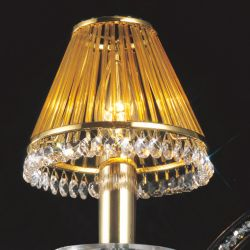 Diyas IL30500 Crystal French Gold/Crystal Clip-On Shade With Amber Glass Rods