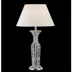 Diyas IL30421 Soho Polished Chrome/Crystal 1 Light Table Lamp Without Shade Tall