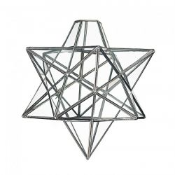 Loxton Lighting 300mm Star Pendant Glass with Chrome framework
