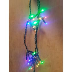 6m Ultra Bright 200 Multi Coloured LED Firecracker Lights Indoor or Outdoor Use