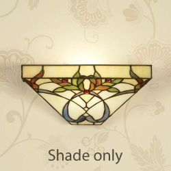 Interiors 1900 TG102W Alcea Tiffany Wall Light Shade