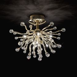 Diyas IL30870 Tizio Polished Chrome/Crystal 10 Light Ceiling Light