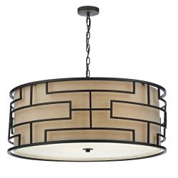 Dar Lighting TUM0463 Tumola 4 Light Pendant Bronze