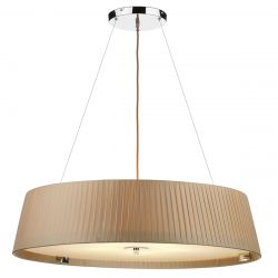 Dar Lighting WHE0529 Wheel 5 Light Slimline 800mm Pendant Taupe