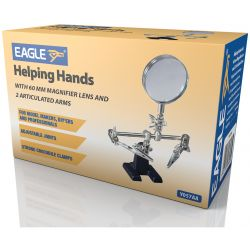 Helping Hands with 60 mm Magnifier Lens and 2 Articulated Arms