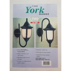 The York Range Black 100W E27  Up/Down Outdoor Lantern