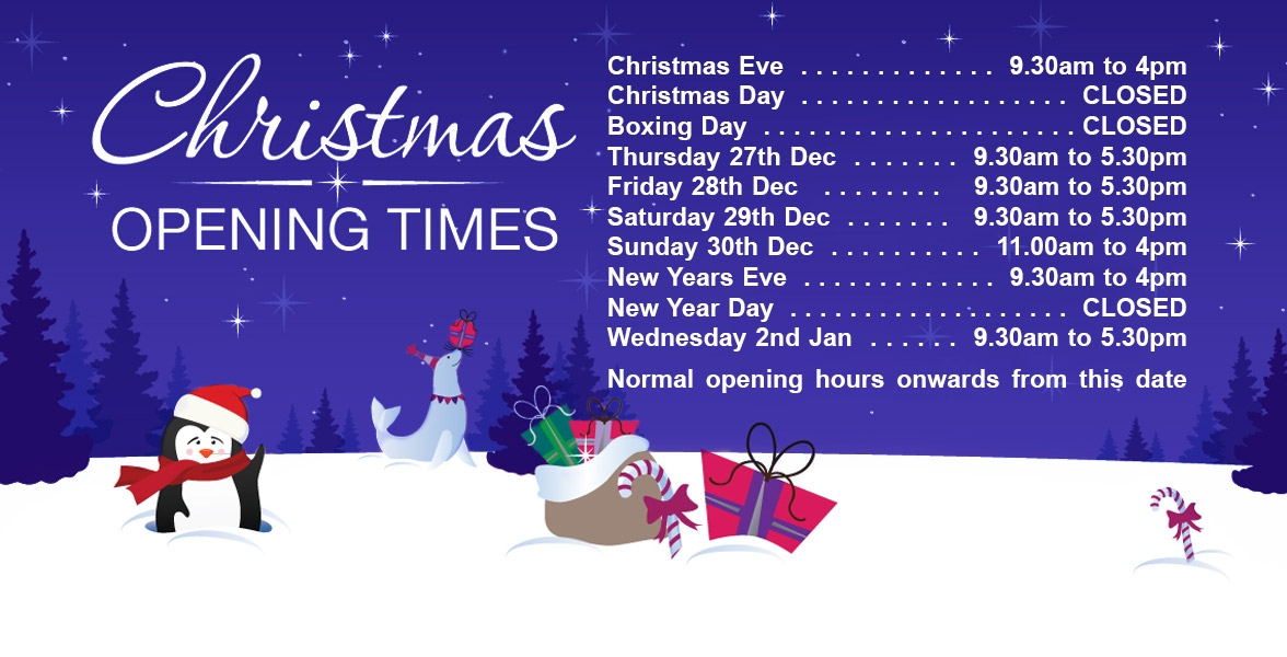 Christmas and New Year Open Hours