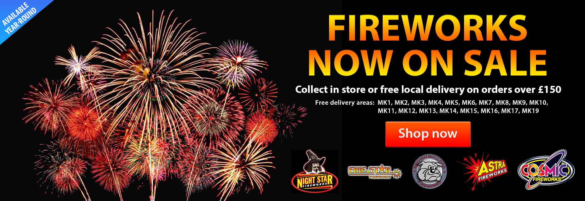 View our Fireworks for sale