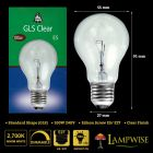 Bell 100w 240v Edison Screw ES/E27 Clear Gls Dimmable Light Bulb