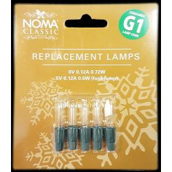 Noma G1 6v 0.12a 0.72W 4 Clear Lamps and 1 Fuse Lamp