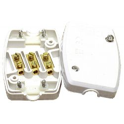 Flex Connector Solid 3 Core 13A Resilient White
