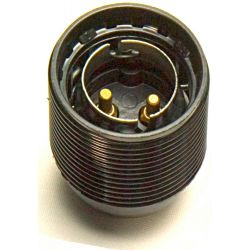 Continental Lampholder 10mm BC Threaded Black