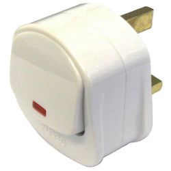 Plug 13A White Switched
