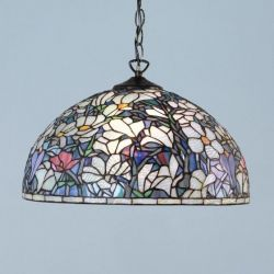 Magnolia Tiffany pendany with SU02 hanging pendant by interiors 1900