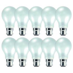 10x GE 100W 240V Bayonet BC/B22 Mini GLS Dimmable Incandescent Pearl Light Bulbs