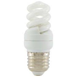 Eglo 12164 240V 7W Compact Flourescent Spiral Bulb, 34x85mm