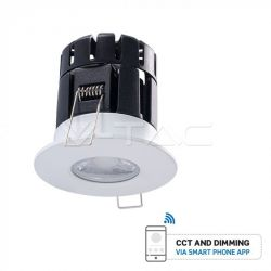 V-TAC Fire Rated IP65 Dimmable 10W LED Downlight (Smart Phone App Controlled)