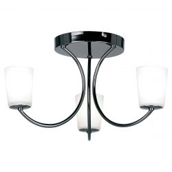 Endon Lighting 1731-3BC Modern 3 Light Black Chrome Ceiling Light