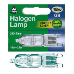 Bell 18w 240v Clear G9 Halogen Capsule Energy Saver 25w equiv.