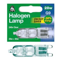 Bell 28w 240v Clear G9 Halogen Capsules Energy Saver 28w = 40w