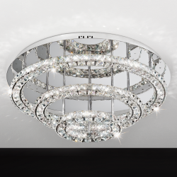 Eglo 39002 TONERIA LED Glass Crystal Ceiling Light